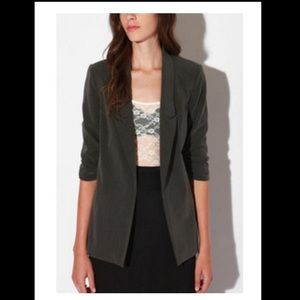 UO Silence + Noise Grey Ruched Blazer